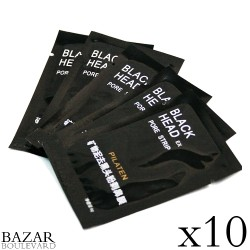 Pilaten, BLACK HEAD Pore Strip, Masques Exfoliant pour le Visage x10