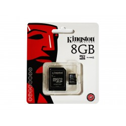 Carte mémoire MicroSDHC 8GB Kingston Class4 - Sous Blister